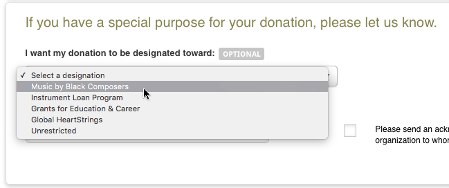 Donation Instructions
