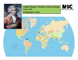 Joseph Bologne Origin Map