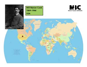 Will Marion Cook Origin Map