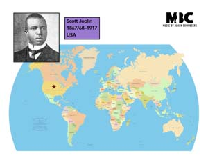 Scott Joplin Origin Map