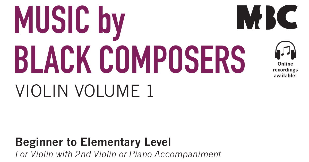 Violin Volume 1 - Music by Black Composers