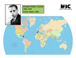 Amadeo Roldán Origin Map