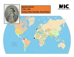 Ignatius Sancho Origin Map