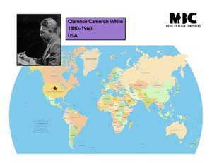 Clarence Cameron White Origin Map